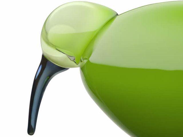Iittala Birds by Toikka, Ibis green, 165 x 205 mm