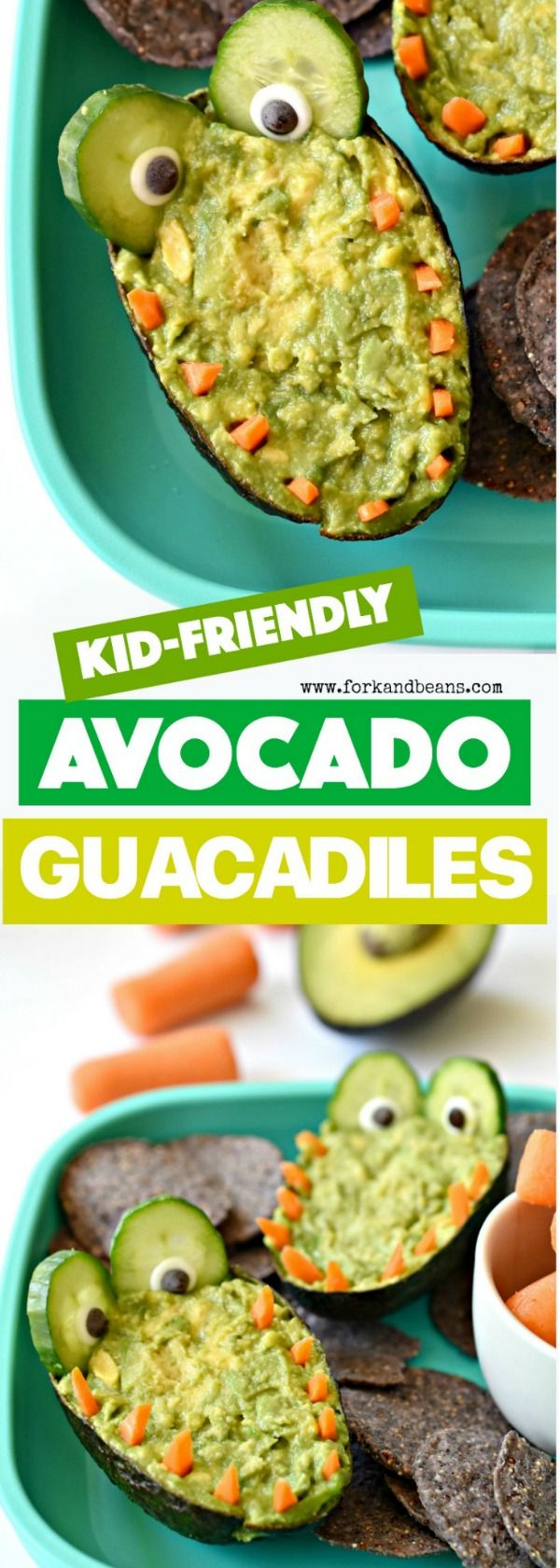 Surprise your kids with this superfood-filled, healthy Guacadile Dip. It's the perfect after-school or on-the-go snack.
