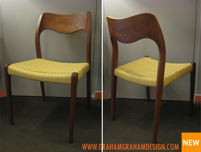 60's Danish dining chairs by Moller