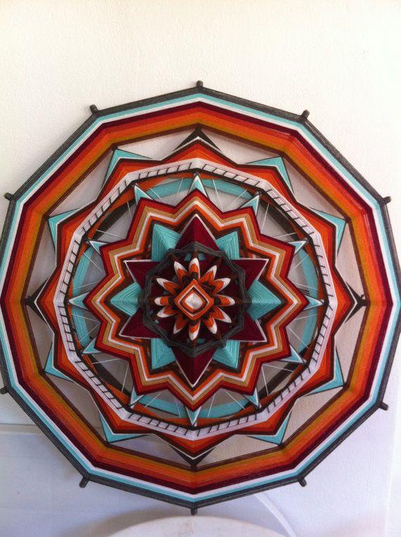 Spirit of India, Yarn Mandala / Ojo de Dios, by RusaLena