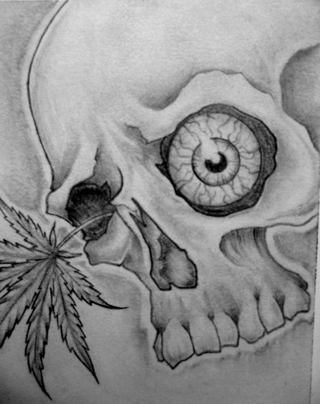 Skull Tattoo Weed Eye Ball Tattoo Designs Pinterest
