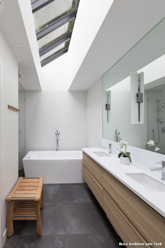 Ikea Godmorgon Sink Modern Badezimmer with Modern Renovation by Vallely Architecture at Germany