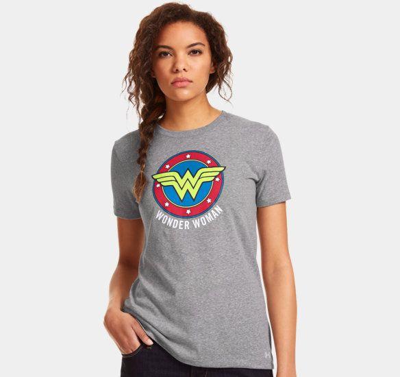d8c4a874 Women's UA Wonder Woman Short Sleeve   Wonder Woman   Under armour women, T  shirts for women, Women