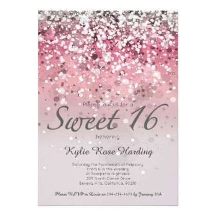 24 best Sweet 16 invitations images on Pinterest | Sweet ...