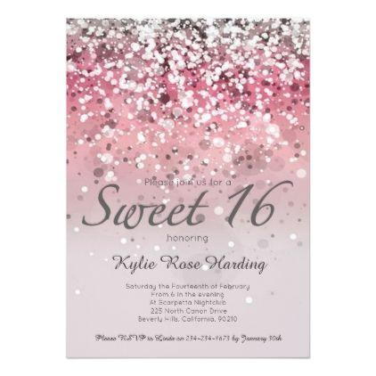 24 best Sweet 16 invitations images on Pinterest | Sweet ...