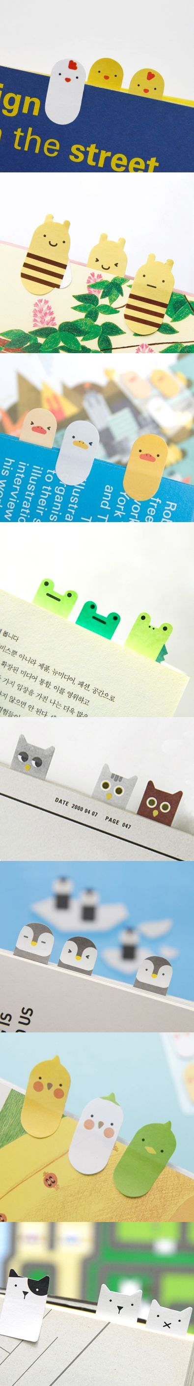 This is a really cute & adorable sticky note collection! The collection comes with 400 sheets of index sticky notes for you to mark up your book, index your favorite page, write a short memo or note! They are perfect for work, school, and as a gift too! mochithings.com carries this collection and all 8 individual designs are available there too!