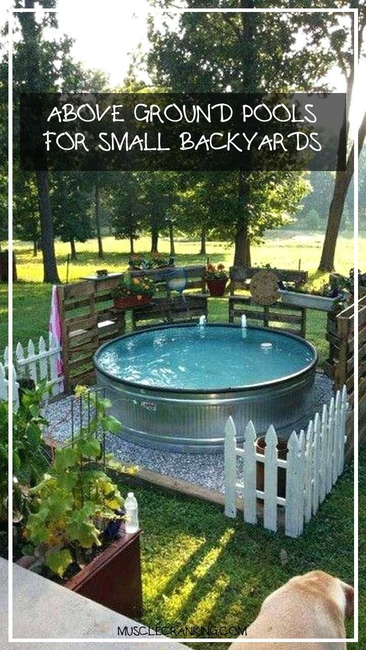 Above Ground Pools For Small Backyards 2020 In 2020 Small