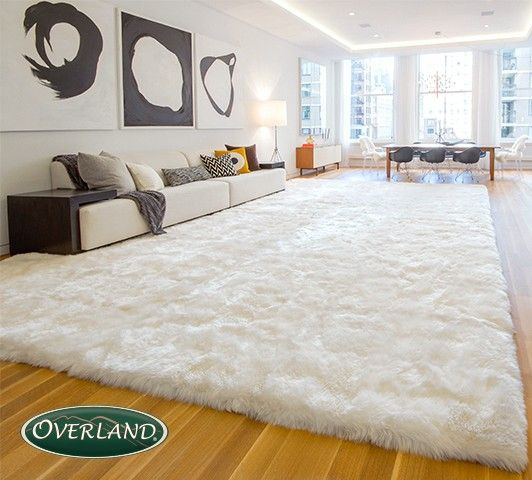 Super large sheepskin rugs ==  adding warmth to your room!