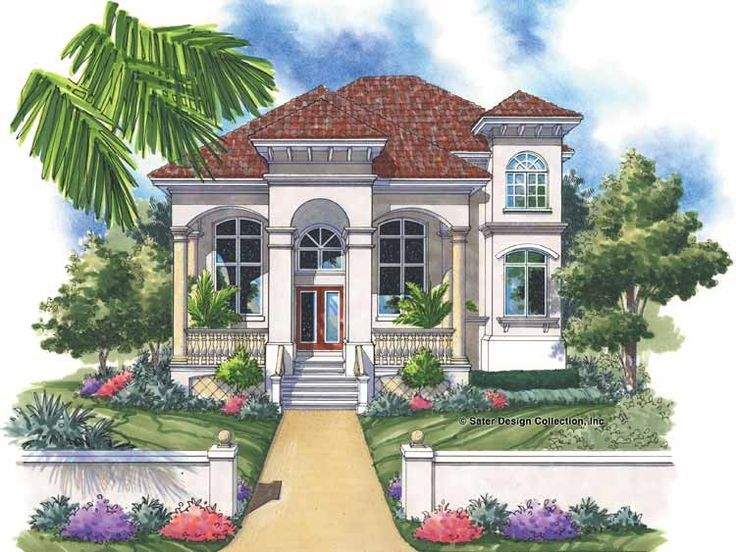 88 best key west house plans images on pinterest house for Italian villa blueprints