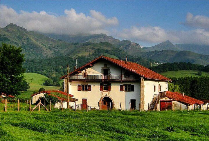 BAZTANGO BASERRIA NAFARROAN EUSKAL HERRIA / Basque House in Baztan Navarre Basque Country.