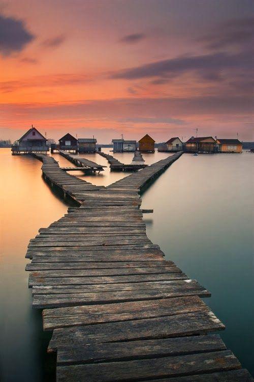 Bokod Lake, Hungary :