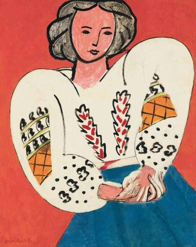La Blouse roumaine d'Henri Matisse est le fruit d'un travail de six mois, engagé en octobre 1939. Onze photographies prises par l'artiste documentent les étapes de cette patiente élaboration. Il le...