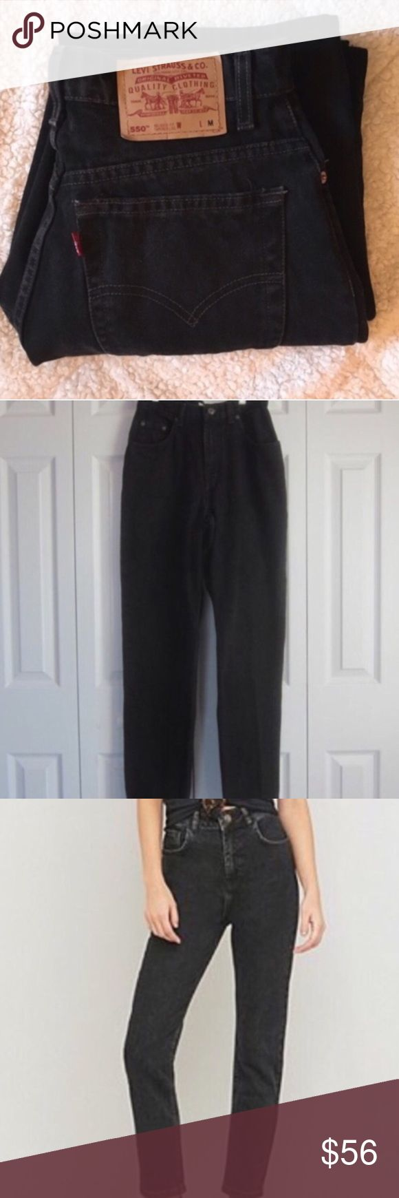 Vintage High Waisted Black Levi's High quality vintage black high Waisted Levi jeans. 100% Genuine Levi's. The perfect pair of mom jeans. Since these are a vintage item some pair have had tags removed but all Jeans are sized to be true to fit! Levi's Jeans