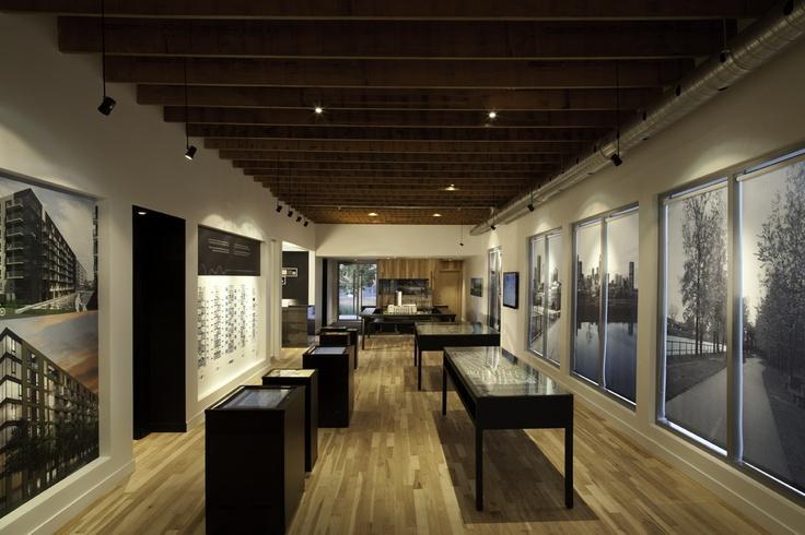 """Bureau de ventes du projet """"Bassins du havre"""", conçu par Humà Design / Photos © Robert Bock"""