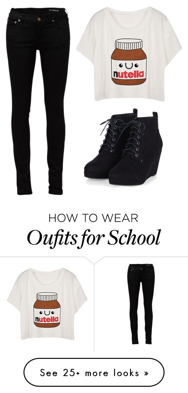 """School wear best for any casual day"" by jahliyaxox on Polyvore featuring Yves Saint Laurent"