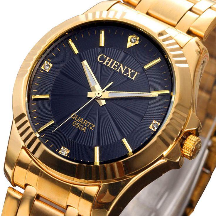 """Товары Из Китая - Купить """"2015 золотого цвета часы мужчины люксовый бренд лучшие часы наручные мужские часы золотой нержавеющей стали наручные часы кварцевые бизнес мода"""" всего за 7778.87 RUR."""