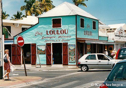 Chez Loulou,Saint-Gilles-les-Bains, Ile de la Reunion, Scan from photo