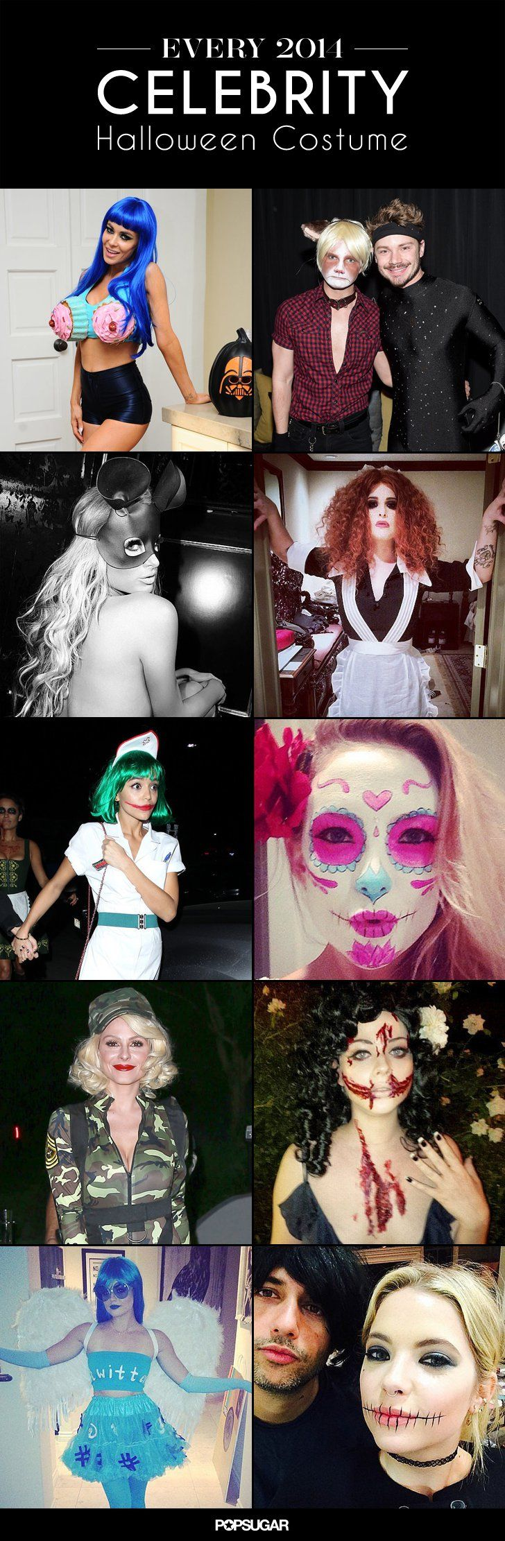 Pin for Later: Look Back at All of Last Year's Memorable Celebrity Halloween Costumes!