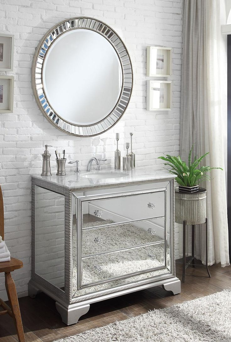 60 best Brilliant Mirrored Vanities images on Pinterest | Mirror set ...