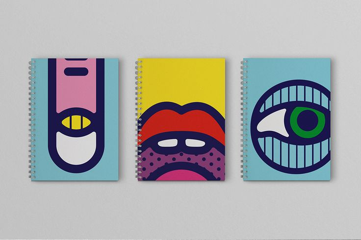 Psychedelic illustrations by Craig & Karl for a set of notebooks created for…