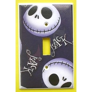 Nightmare Before Christmas Jack Skellington Single Switch Plate switchplate
