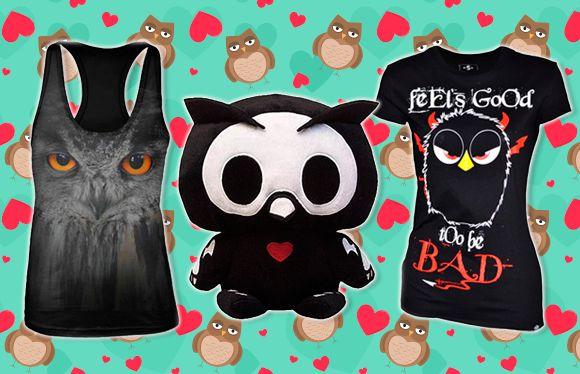¿Te gustan los búhos? ¿Aún no lo sabes? ¡Los búhos están de moda! Camisetas, colgantes, cojines, peluches… ¡Todo un mundo de artículos llenos de adorables búhos!