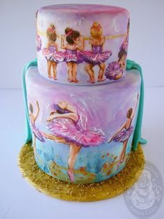 9 ladies dancing cake (12 cakes of Christmas) - by Natalie Madison's Artisan Cakes