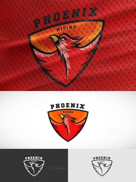 Phoenix Sport Team Logo Template. Sport Icons. $14.00