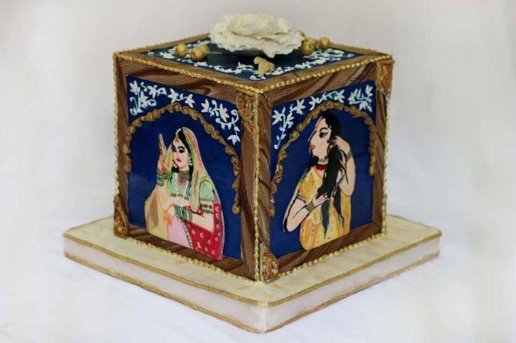 Incredible india Mughal paintings - cake by sheilavk