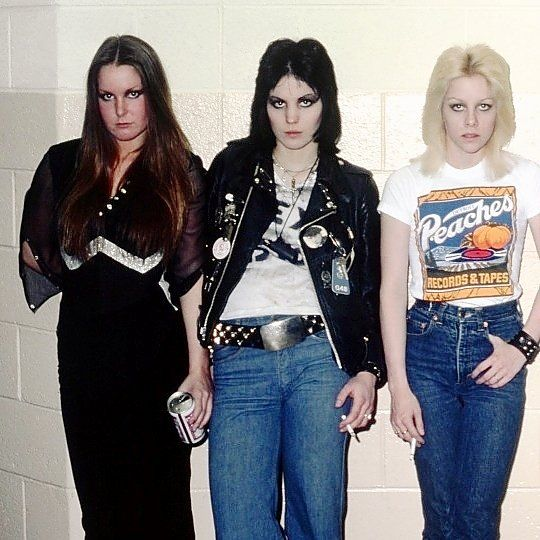 Lita Ford, Joan Jett, and Cherie Currie, 1977.