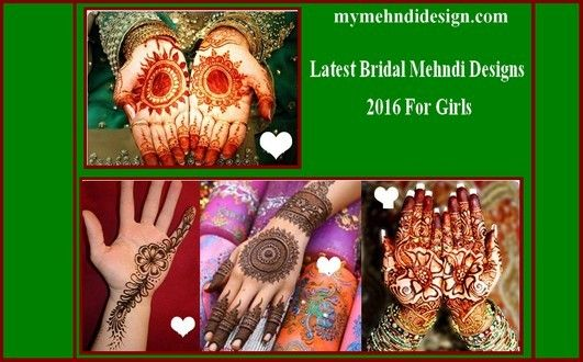 Latest Bridal Mehndi Designs 2016 For Girls