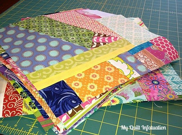 My Quilt Infatuation: Calling All Scrap Lovers! An Improv Piecing Tutorial.....great tutorial with step by step photos.
