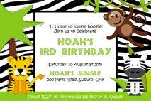 Jungle Birthday Party Printables.
