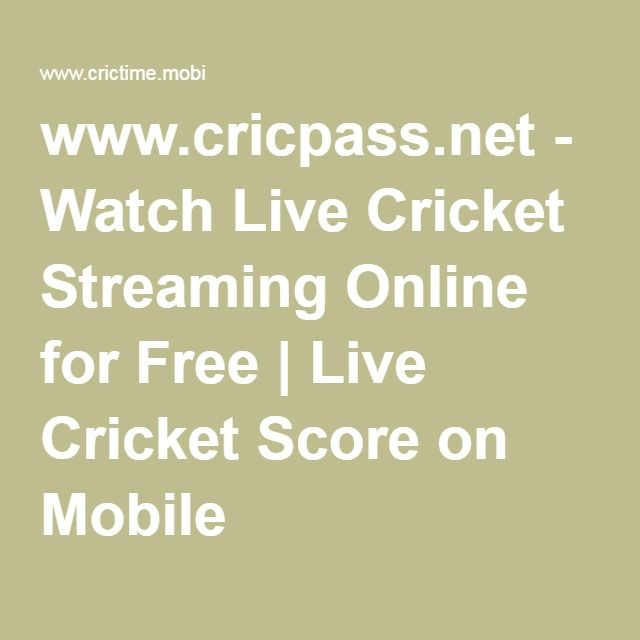 www.cricpass.net - Watch Live Cricket Streaming Online for Free | Live Cricket Score on Mobile