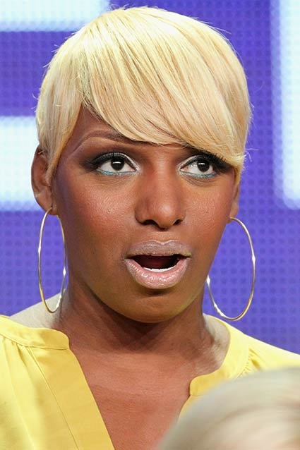 NeNe Leakes' nude lipstick was about two shades too light at The New Normal panel at the TCA tour yesterday in Los Angeles, giving her an unintended clownish appearance.