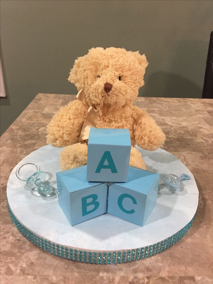 Erfly Centerpieces With Personalized Table Decorations. Blue Brown Baby  Shower Tableware Teddy Bear Balloon Centerpieces With Personalized