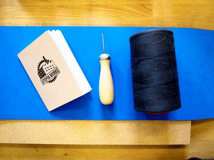 Mini letterpress chapbook with saddle stitch