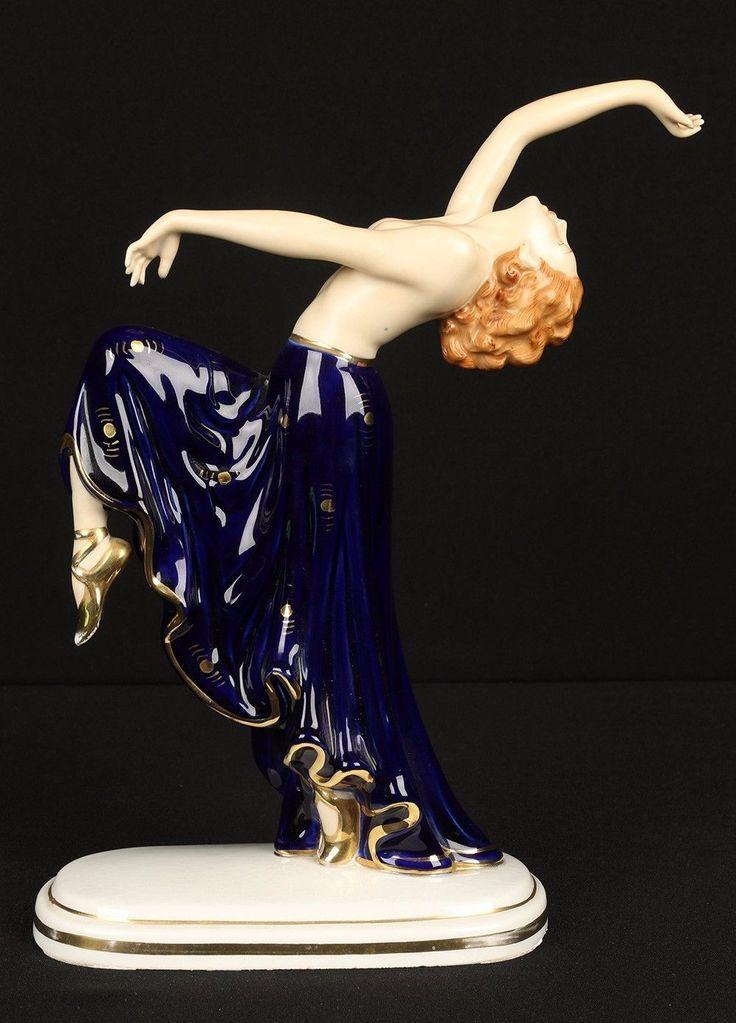 Art Deco Hutschenreuther LHS Porcelain Woman Dancing