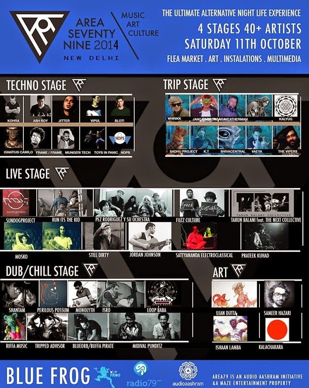 Area79 Music & Arts Festival 2014 - the alternative lifestyle experience | Music Malt   More - http://www.musicmalt.com/2014/10/area79-music-and-arts-festival-2014.html