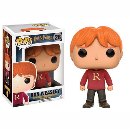 Ron Weasley Sweater Exclusive Funko Pop Vinyl Figure from Harry Potter movie series Brought to you by Pop In A Box, the site Funko Pop! Vinyl shop