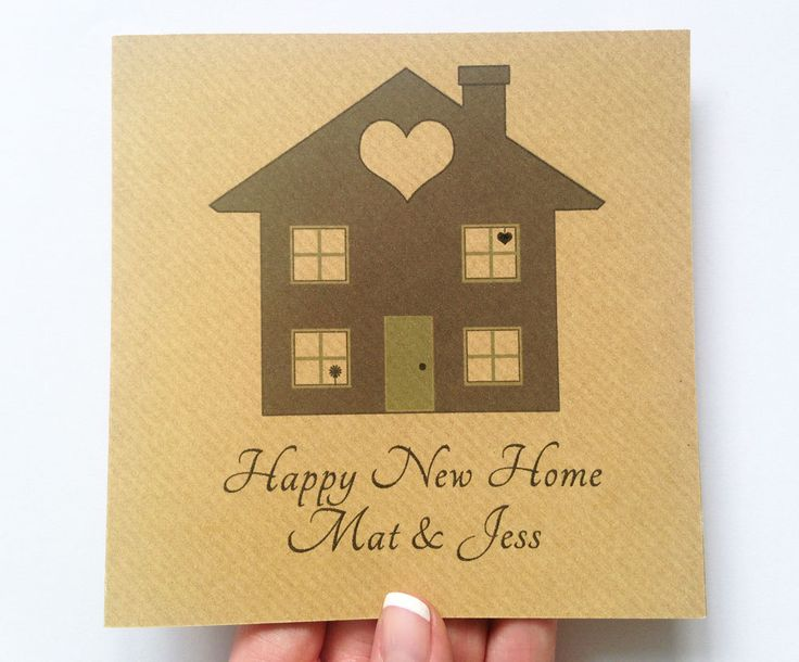 New Home Card - Happy New Home - Personalised Greeting Card - Moving House Card - Housewarming Card by LottieandLois on Etsy