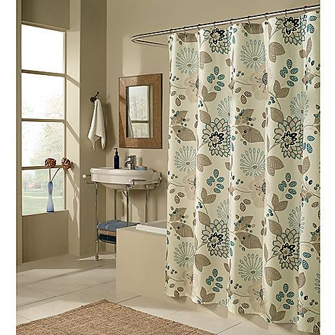 Nicole Miller Watermark Satin Shower Curtain Shipping On
