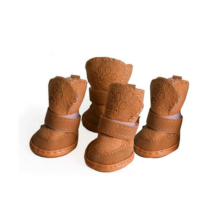 "Dog Boots Puppy Shoes Booties Paw Protector For S/M Dogs Anti Slip Brown 2""x1.6"" #Asobilor"