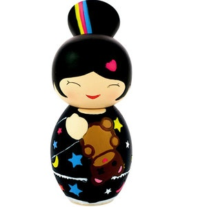 Japanese toys: Wooden Dolls, Kokeshi Dolls, Japanese Dolls, Japan Kimmidoll Kokeshi, Color, O Darling Dolls