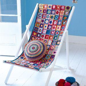 Love this idea!: Ideas, Craft, Crochet Deckchair, Deck Chairs, Knitting, Granny Squares