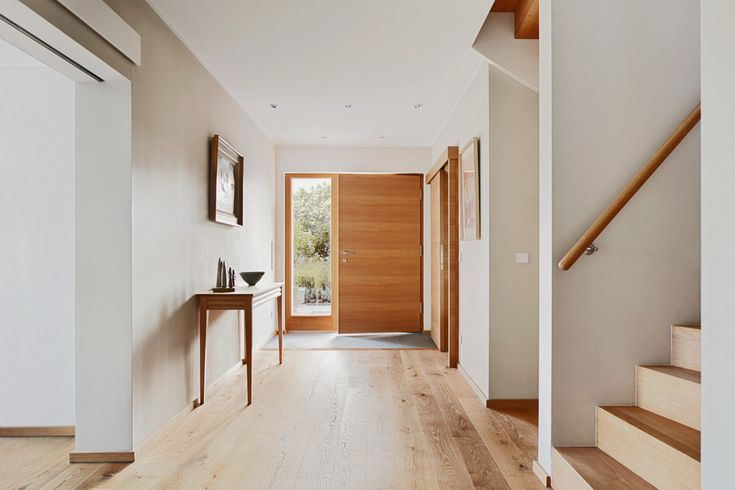 Eingangsbereich Haus innen – Einrichtungsideen Designhaus Frankel Baufritz – Hau…