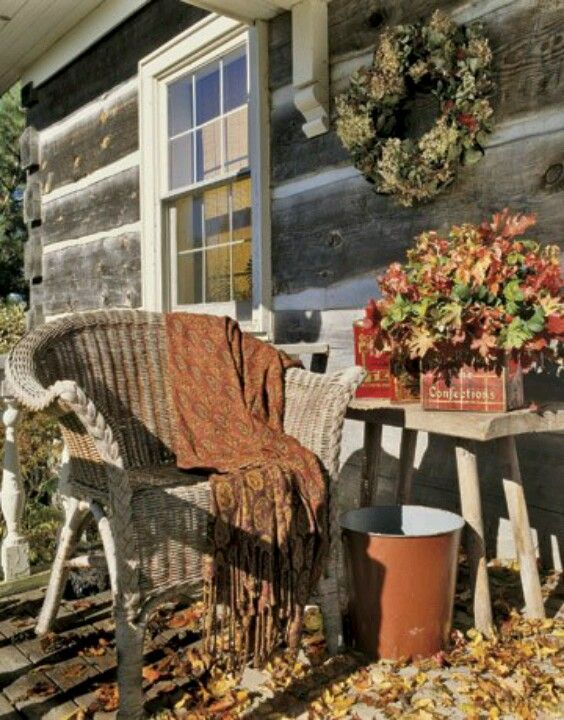 Autumn Country Porch Fall Decorating Pinterest