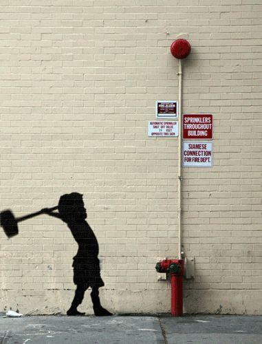 Les oeuvres de Banksy en Gif