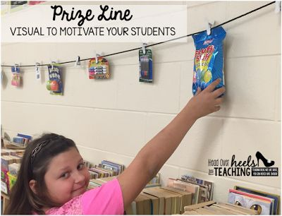 Spark Student Motivation: Prize Line! A great visual to keep your students motivated!