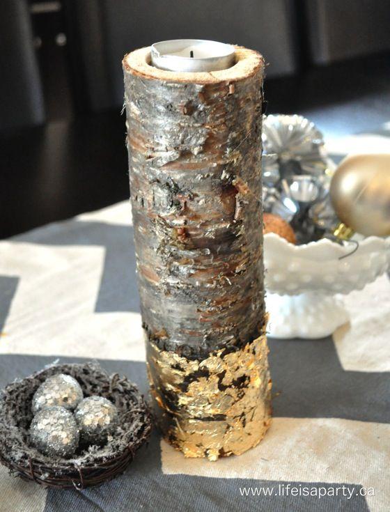 diy wood log candles with gold leaf .jpg